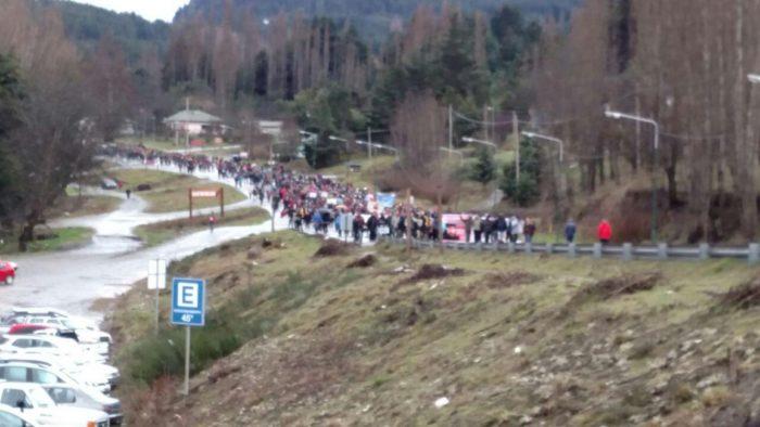 La verdadera marcha en el bolson ayer. Cortesía Revista Cítrica