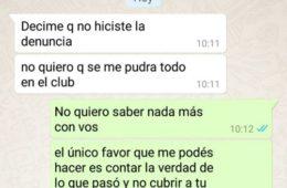 chat entre Martín Benítez y su novia abusada